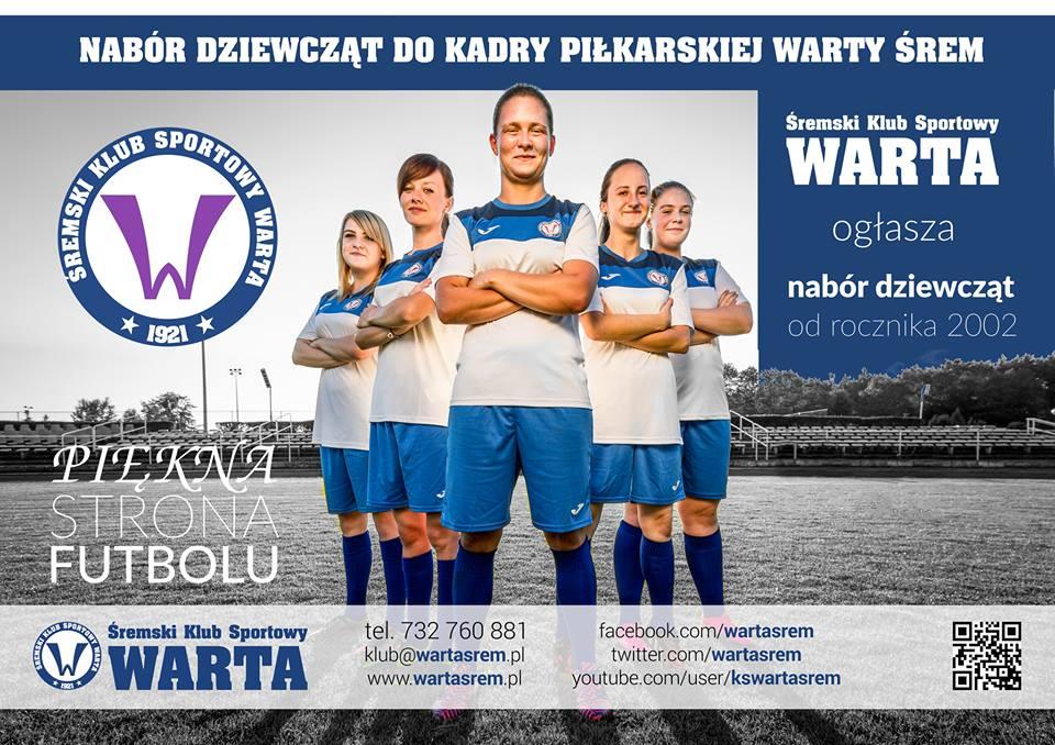 Nabór do kobiecej sekcji piłki nożnej Warty Śrem