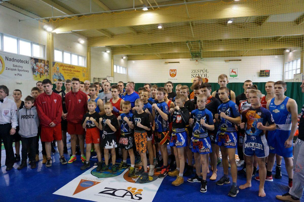 Śremscy bokserzy podczas turnieju w Pile.