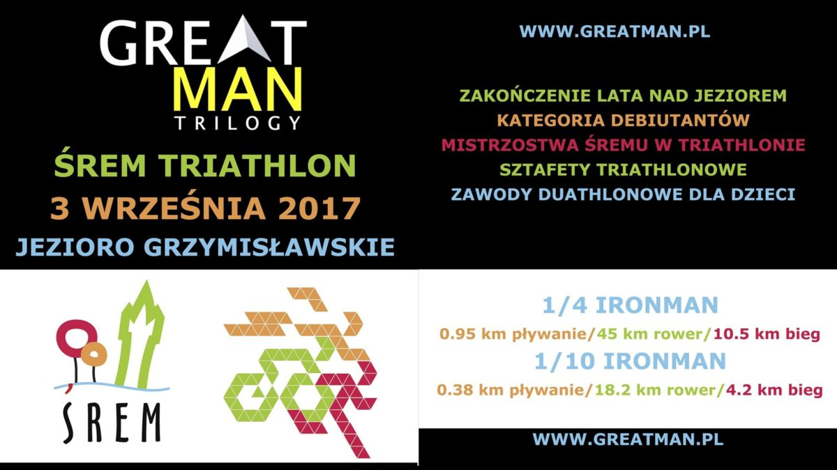 Triathlon w Śremie: Już 3 września Great Man Trilogy