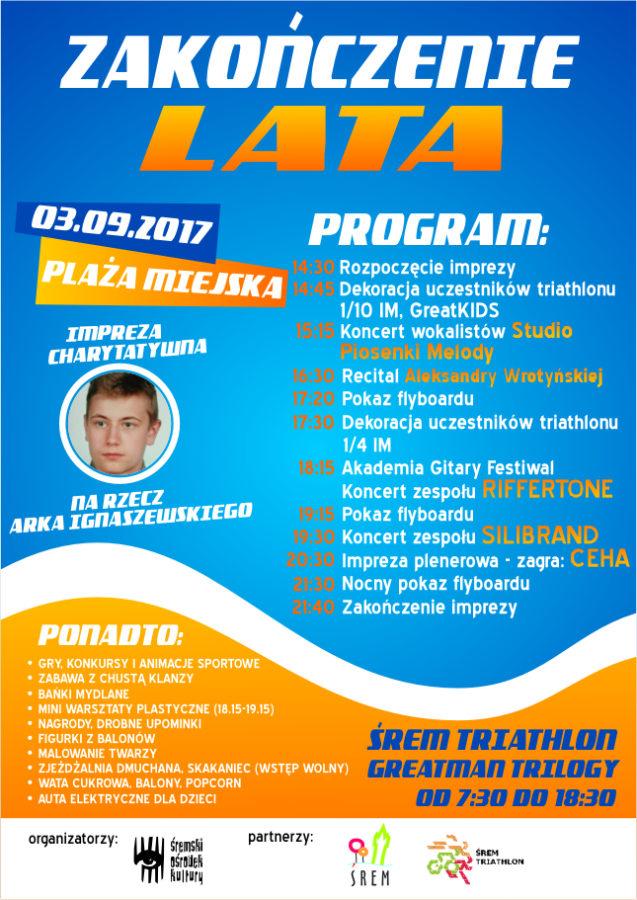 Zakończenie lata 2017 - program oraz plakat imprezy