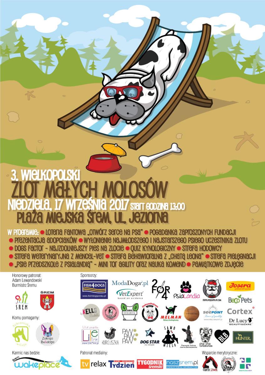 3. Wielkopolski Zlot Małych Molosów: plakat oraz plan
